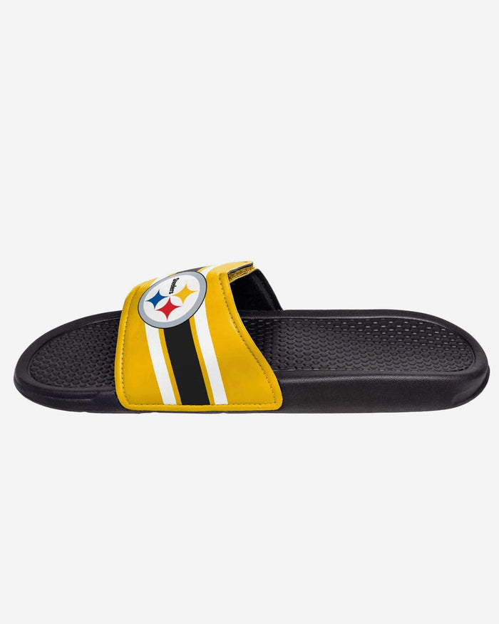Pittsburgh Steelers Stripe Legacy Sport Slide FOCO - FOCO.com