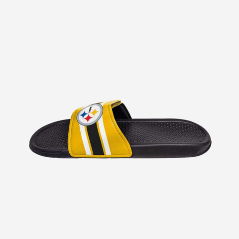 Pittsburgh Steelers Stripe Legacy Sport Slide