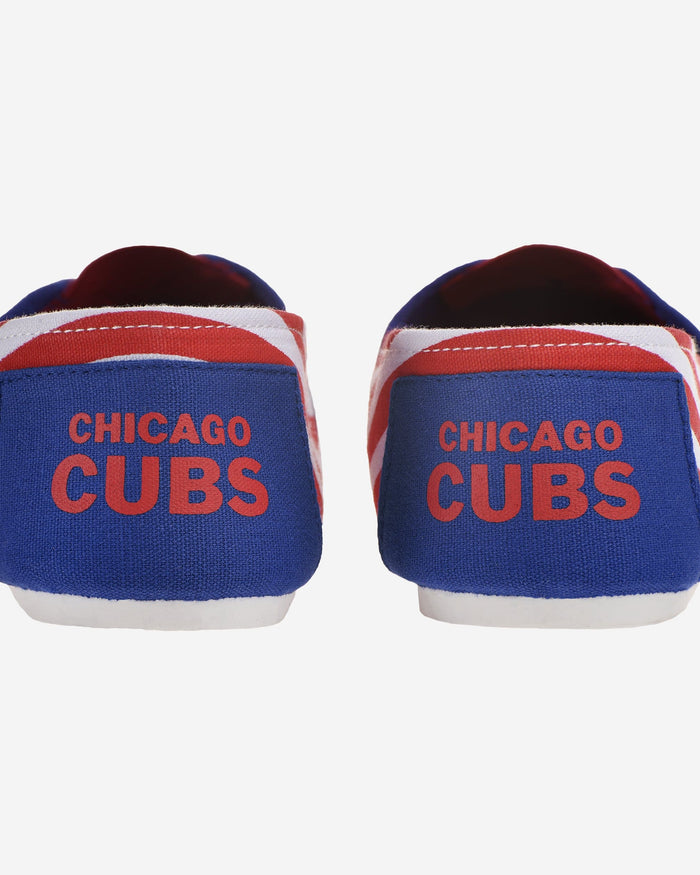 Chicago Cubs Womens Stripe Canvas Shoe FOCO - FOCO.com
