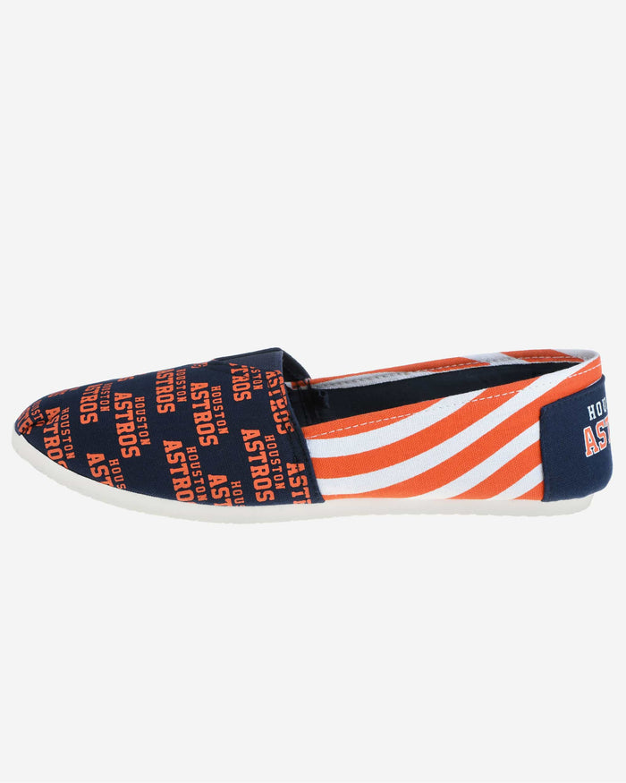 Houston Astros Womens Stripe Canvas Shoe FOCO M - FOCO.com