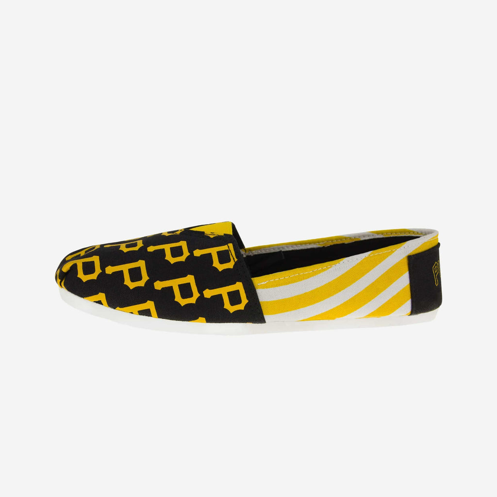 Pittsburgh Pirates Womens Canvas Stripe Shoe