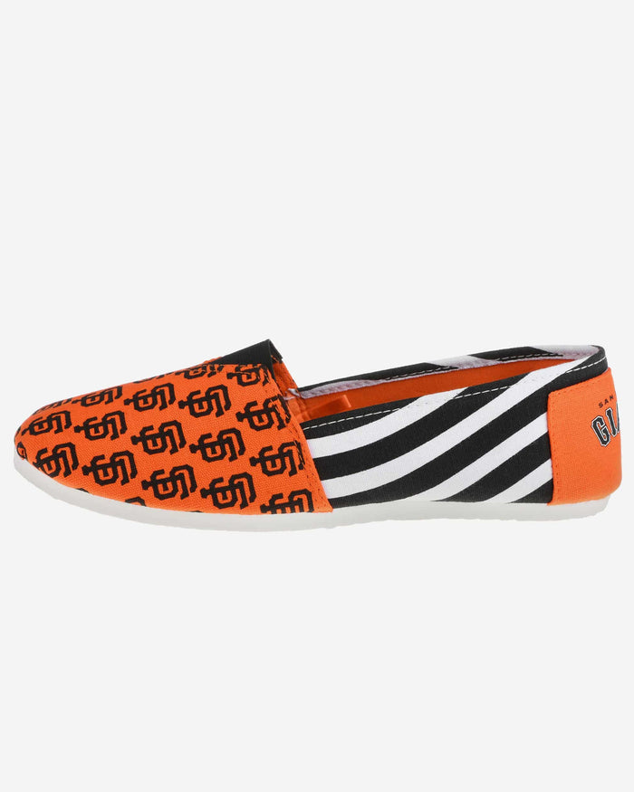 San Francisco Giants Womens Stripe Canvas Shoe FOCO - FOCO.com