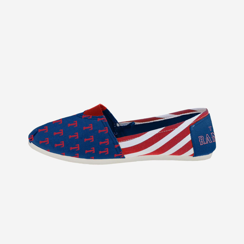 Texas Rangers Womens Canvas Stripe Shoe