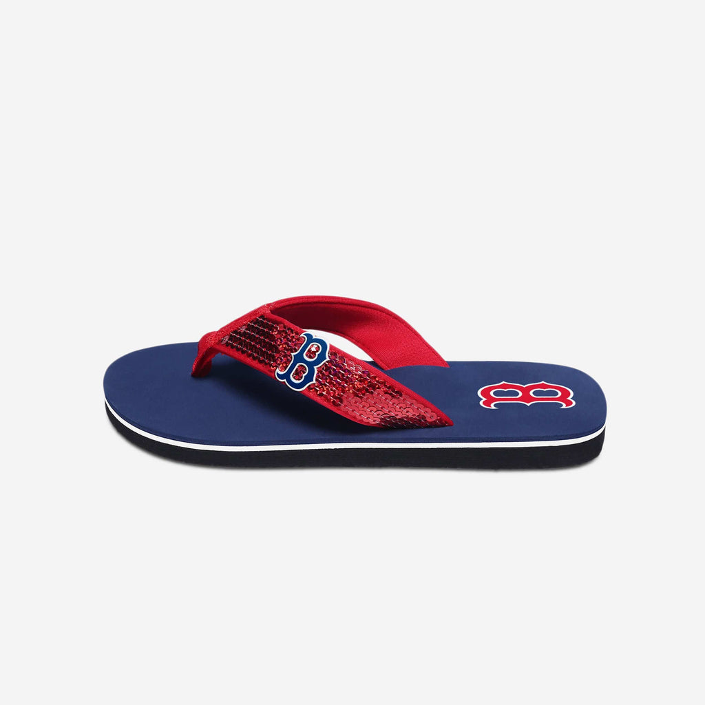Boston Red Sox Womens Sequin Flip Flop