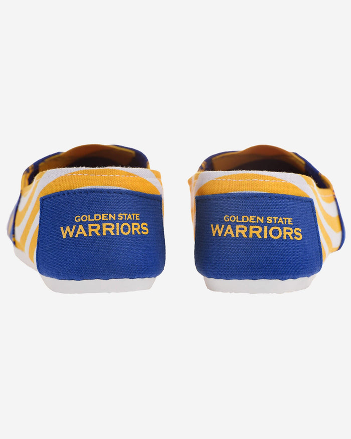 Golden State Warriors Womens Stripe Canvas Shoe FOCO - FOCO.com