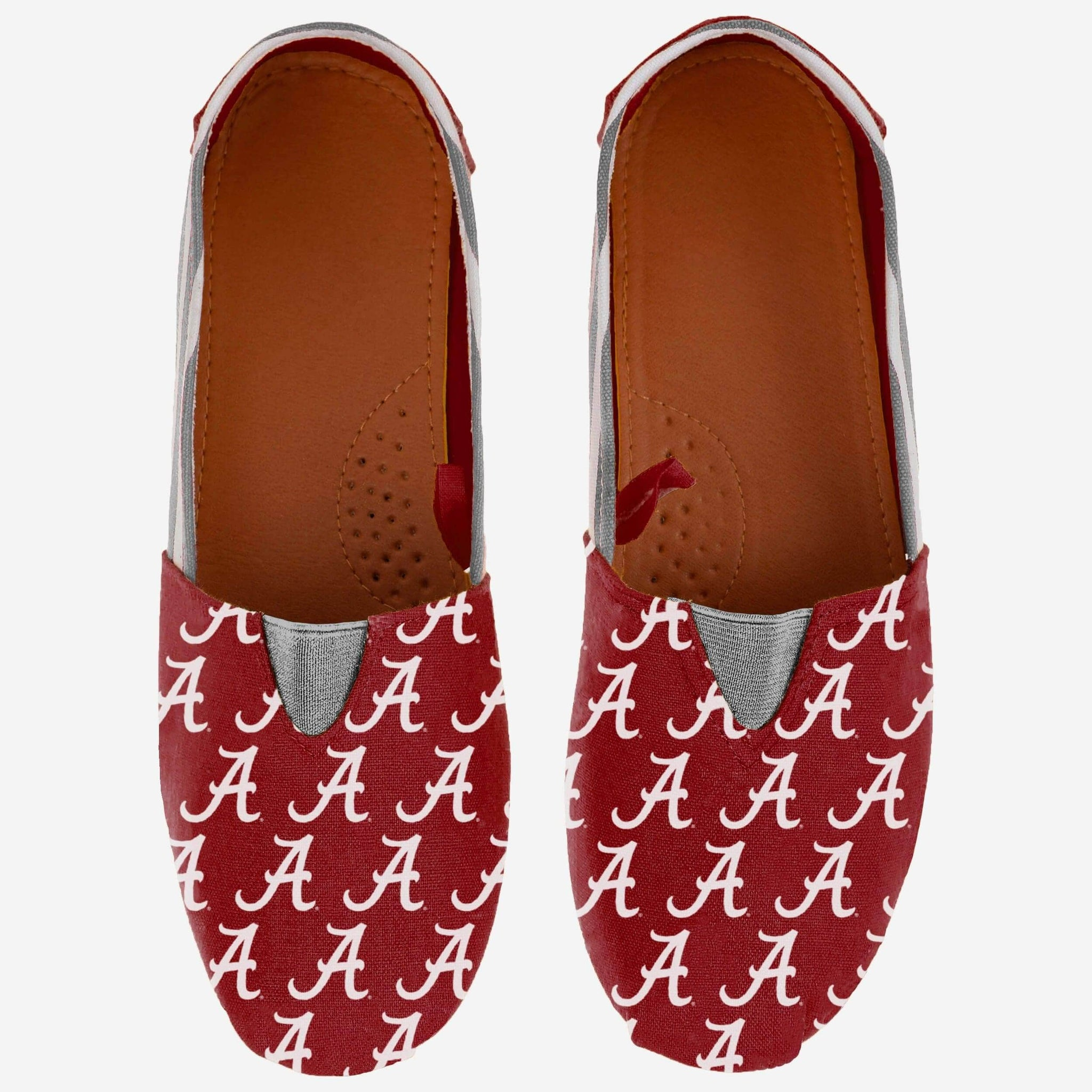 Alabama Crimson Tide Womens Stripe Canvas Shoe FOCO - FOCO.com