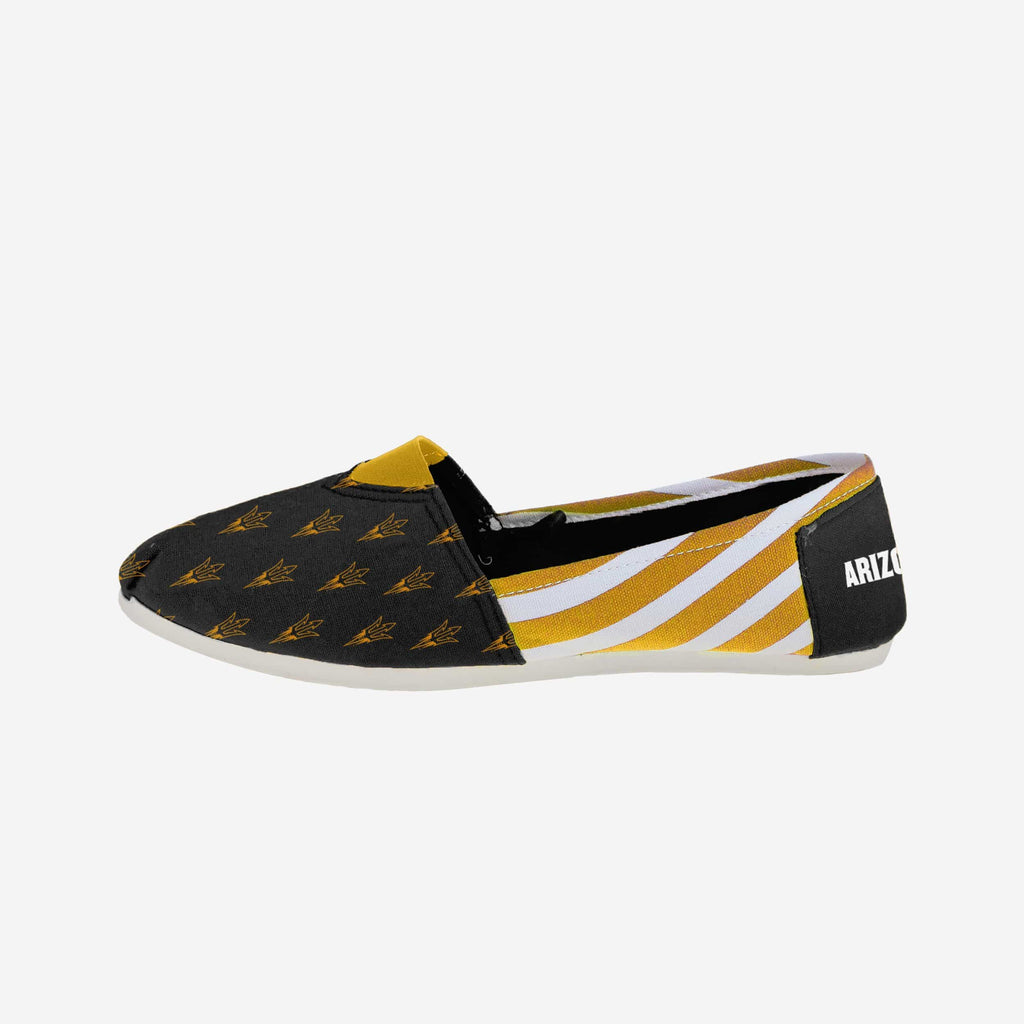 Arizona State Sun Devils Womens Stripe Canvas Shoe FOCO - FOCO.com