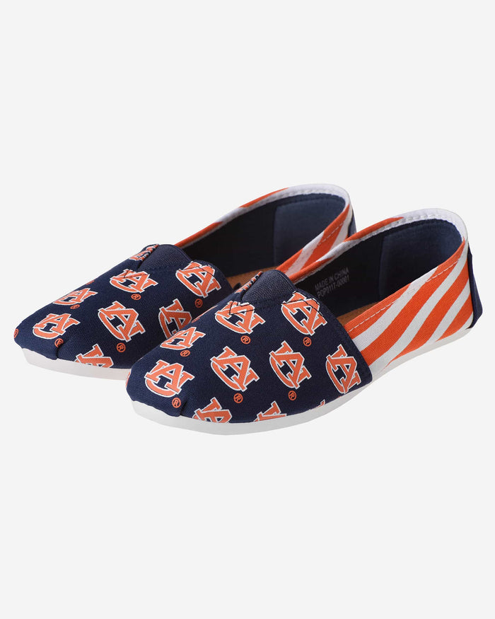 Auburn Tigers Womens Stripe Canvas Shoe FOCO - FOCO.com