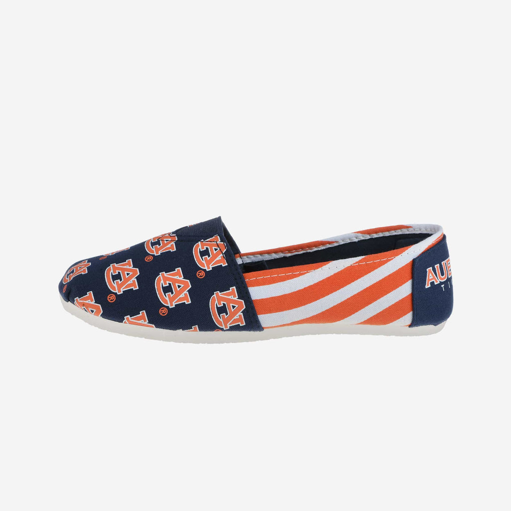 Auburn Tigers Womens Stripe Canvas Shoe