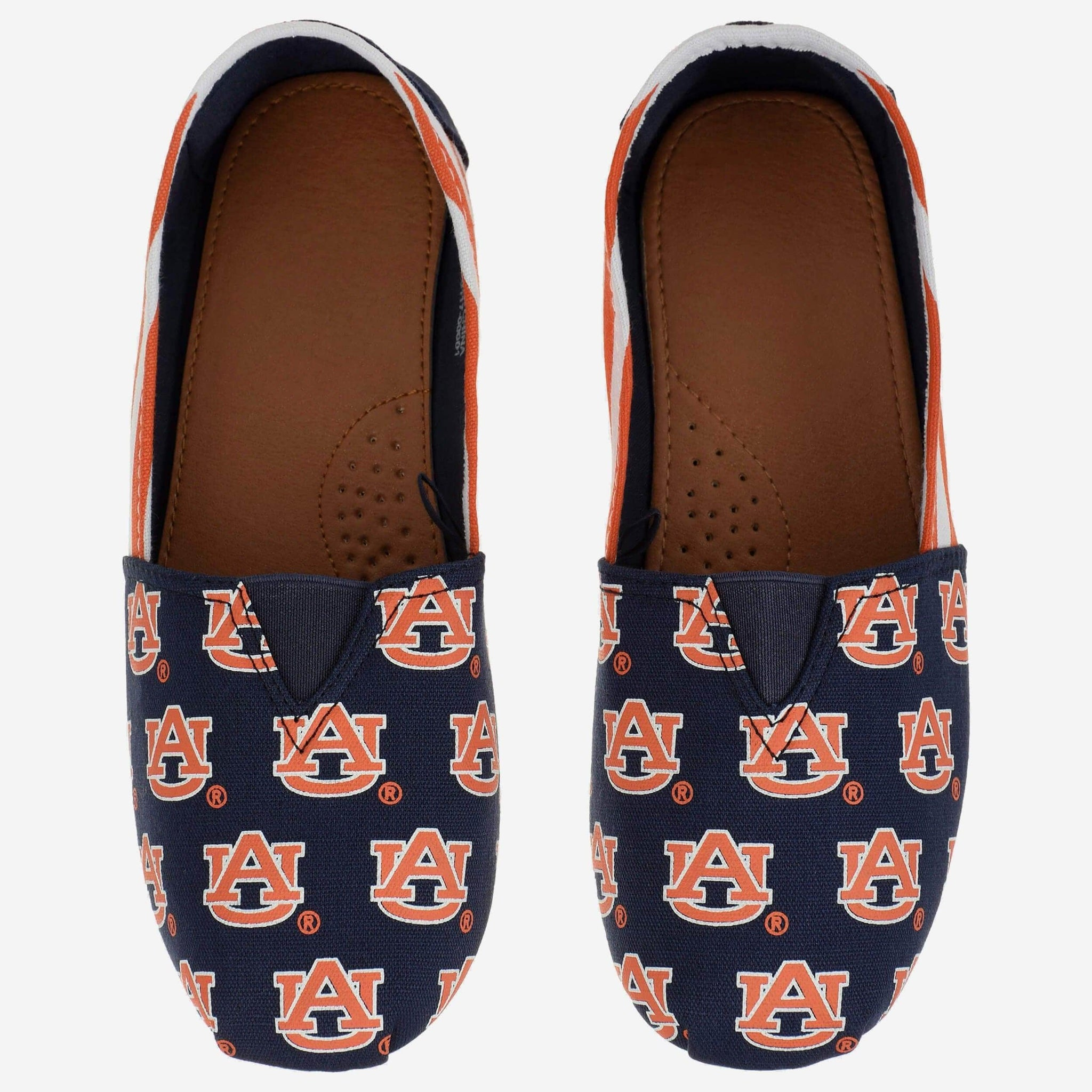 Auburn Tigers Womens Canvas Stripe Shoe