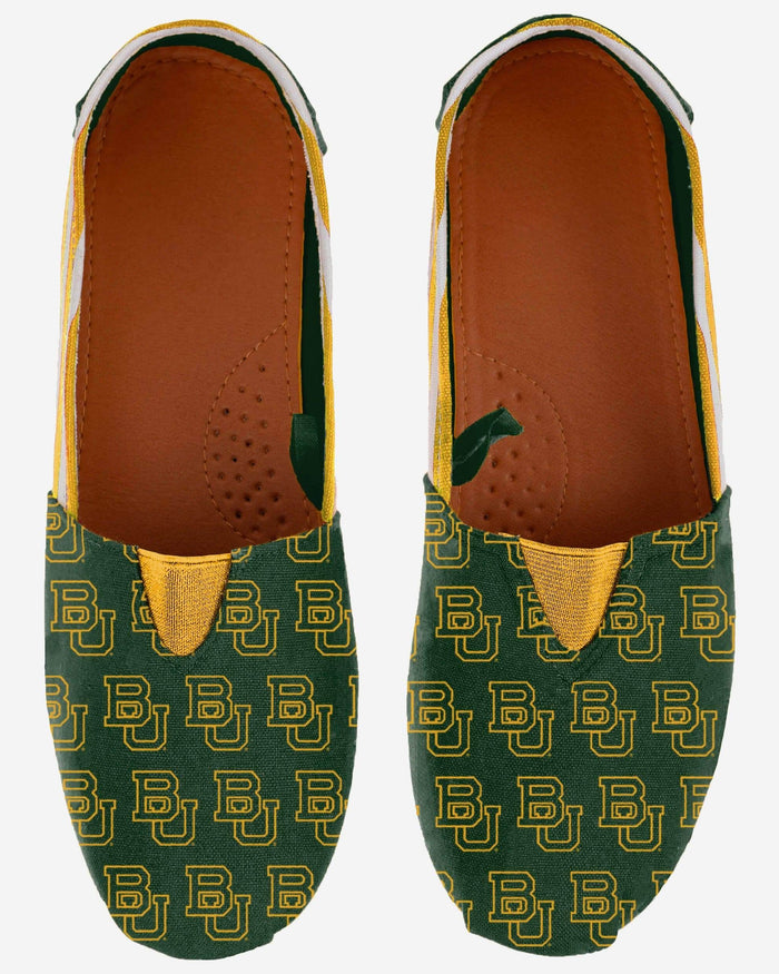 Baylor Bears Womens Stripe Canvas Shoe FOCO - FOCO.com