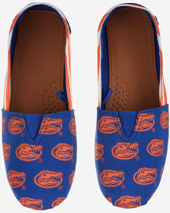 Florida Gators Womens Stripe Canvas Shoe FOCO - FOCO.com