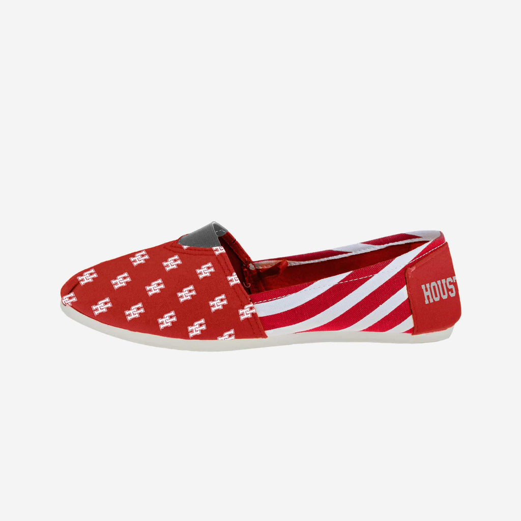 Houston Cougars Womens Stripe Canvas Shoe FOCO - FOCO.com