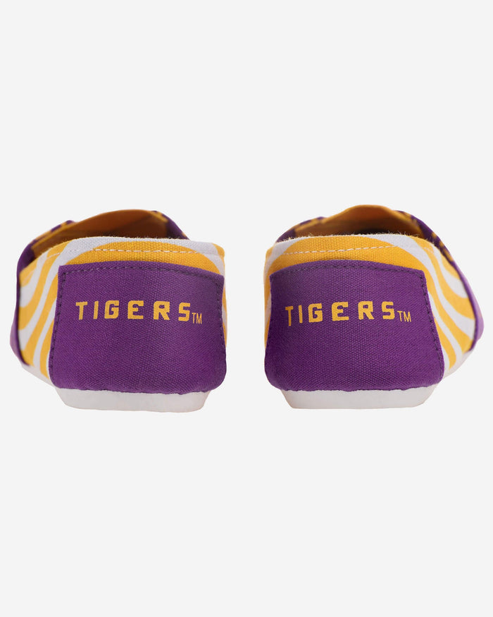LSU Tigers Womens Stripe Canvas Shoe FOCO - FOCO.com