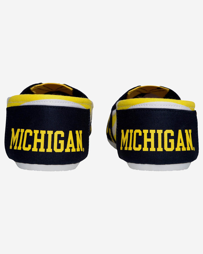 Michigan Wolverines Womens Stripe Canvas Shoe FOCO - FOCO.com