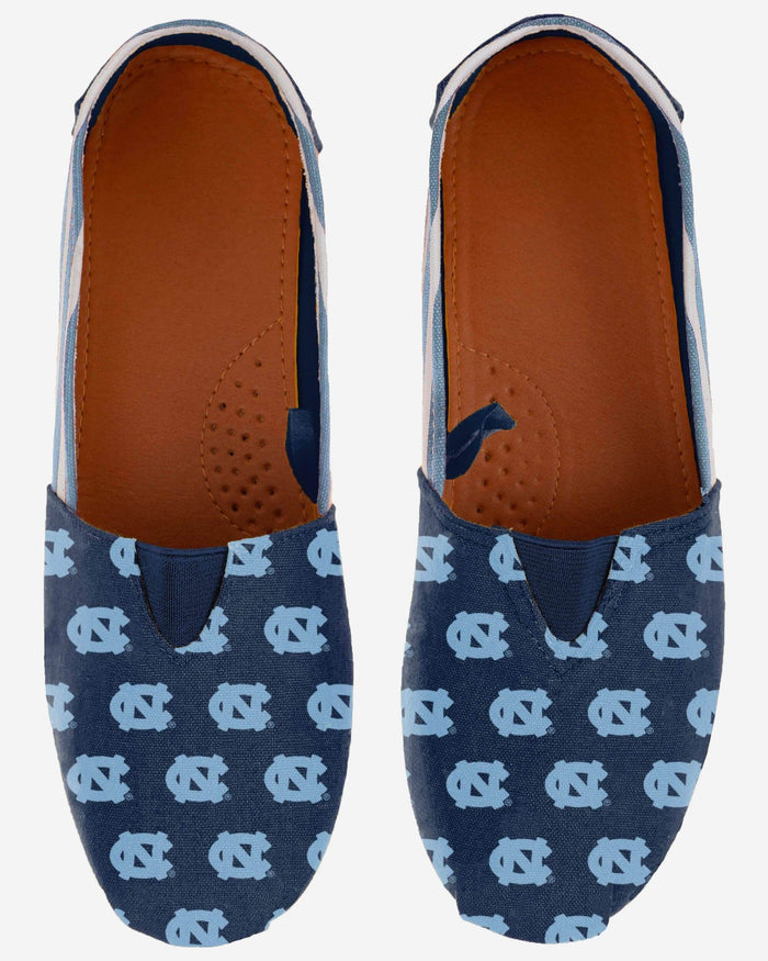 North Carolina Tar Heels Womens Stripe Canvas Shoe FOCO - FOCO.com