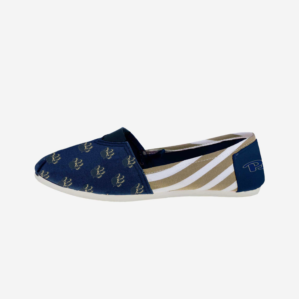 Pittsburgh Panthers Womens Stripe Canvas Shoe FOCO - FOCO.com