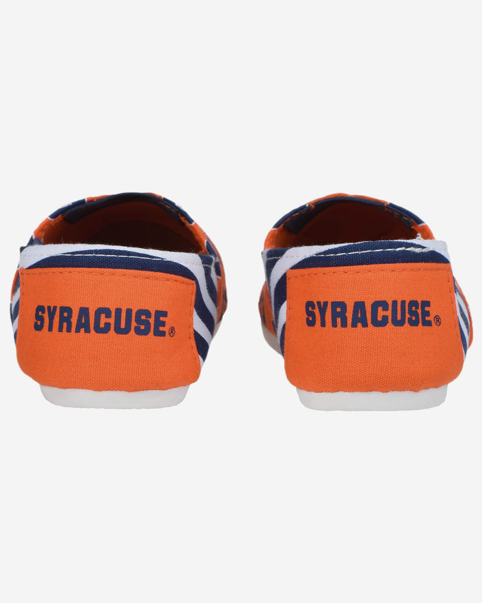 Syracuse Orange Womens Stripe Canvas Shoe FOCO - FOCO.com