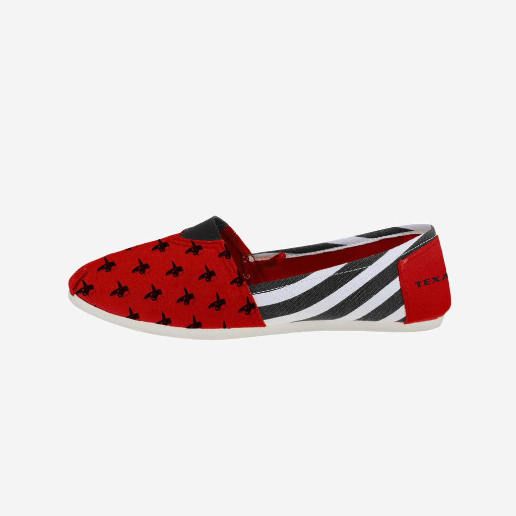 Texas Tech Red Raiders Womens Canvas Stripe Shoe