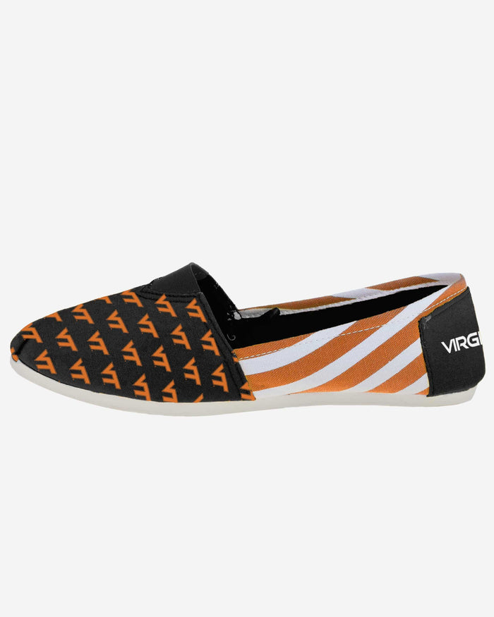 Virginia Tech Hokies Womens Stripe Canvas Shoe FOCO - FOCO.com
