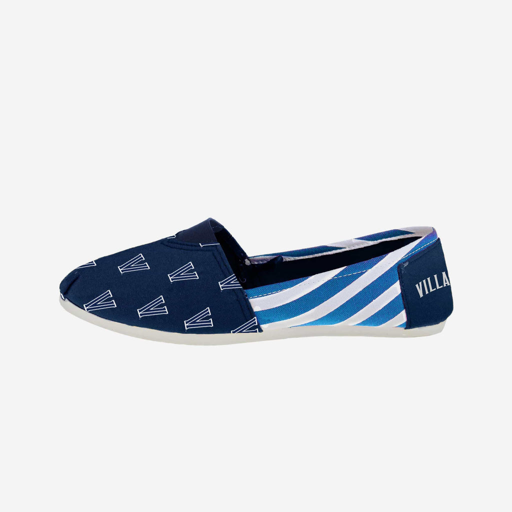 Villanova Wildcats Womens Stripe Canvas Shoe FOCO - FOCO.com