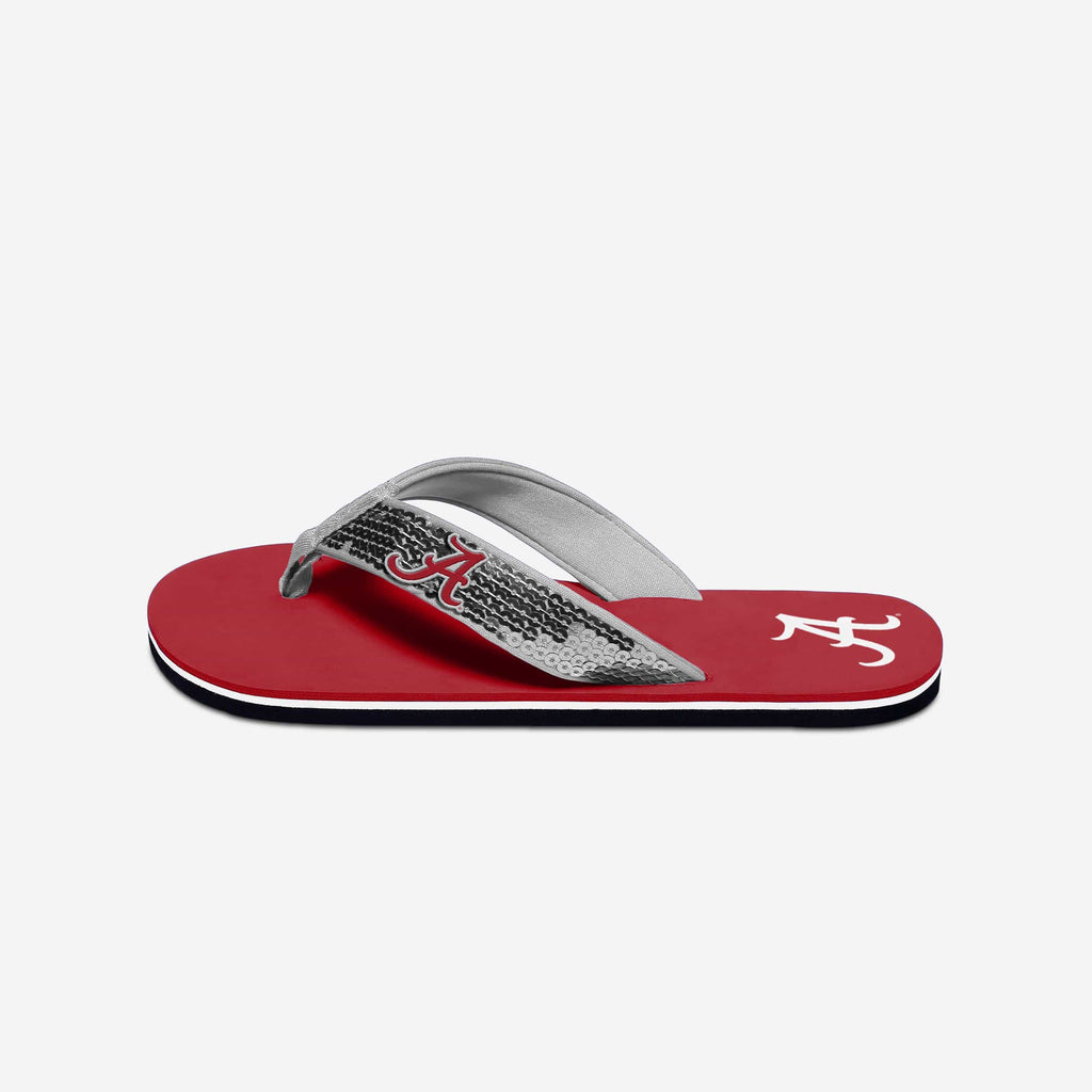 Alabama Crimson Tide Womens Sequin Flip Flop FOCO - FOCO.com