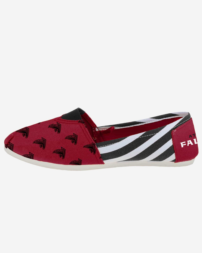 Atlanta Falcons Womens Stripe Canvas Shoe FOCO - FOCO.com