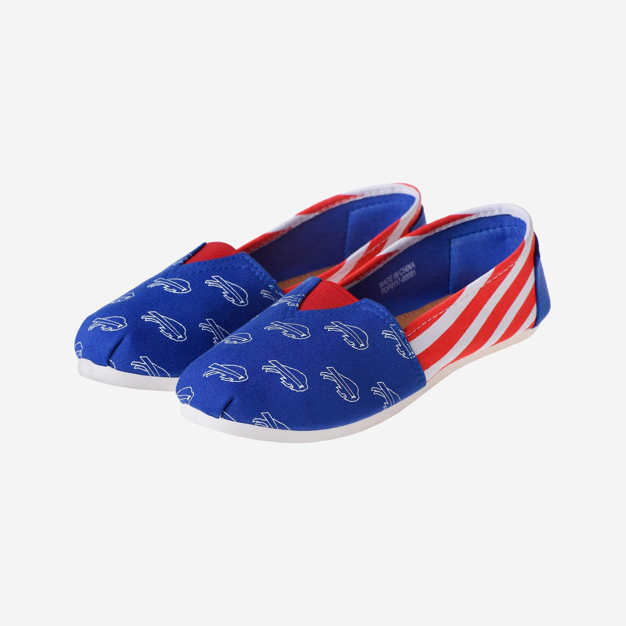 Buffalo Bills Womens Stripe Canvas Shoe FOCO - FOCO.com