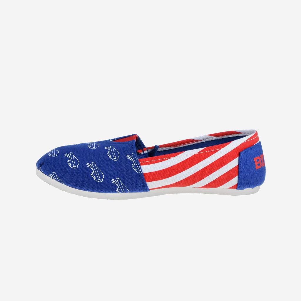 Buffalo Bills Womens Canvas Stripe Shoe