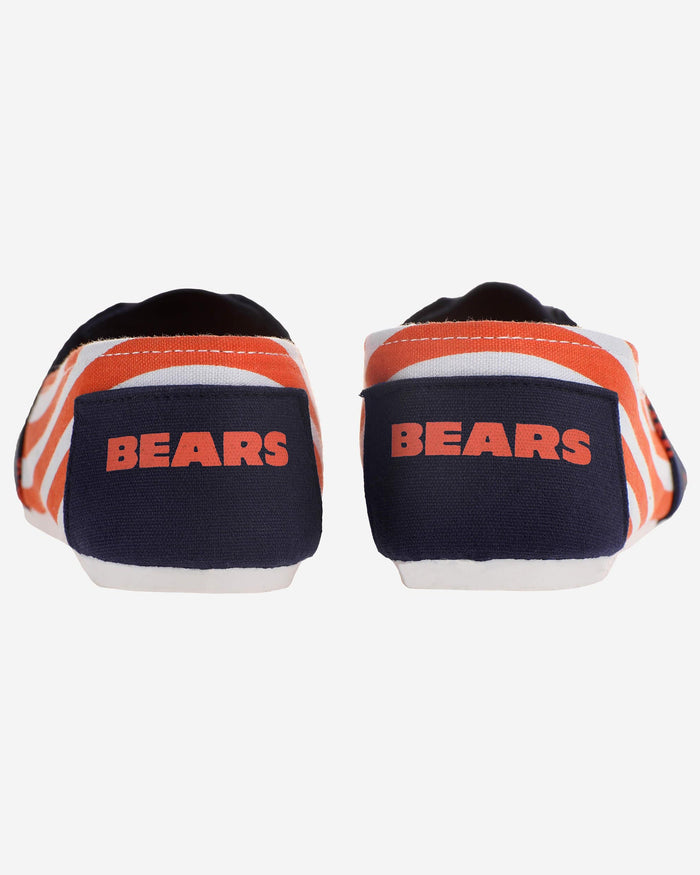 Chicago Bears Womens Stripe Canvas Shoe FOCO - FOCO.com