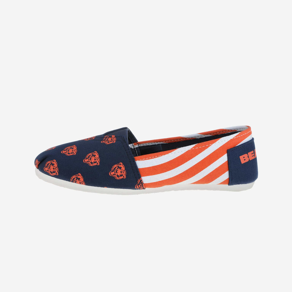 Chicago Bears Womens Canvas Stripe Shoe