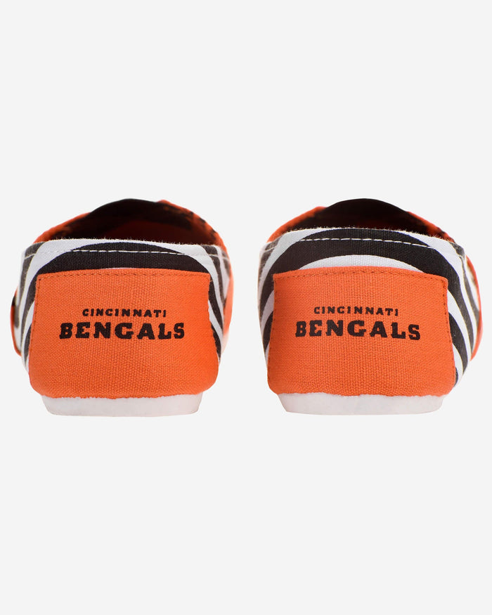 Cincinnati Bengals Womens Stripe Canvas Shoe FOCO - FOCO.com