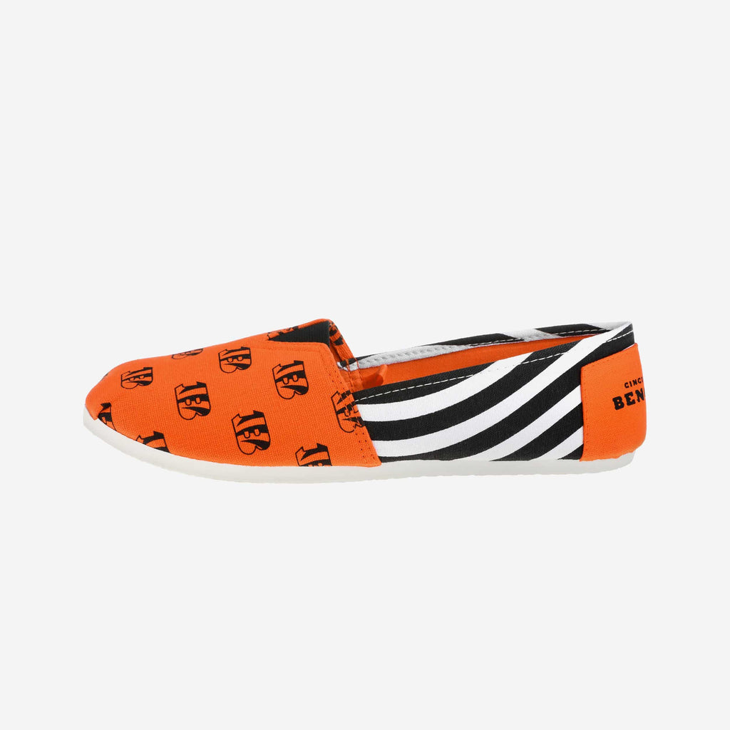Cincinnati Bengals Womens Canvas Stripe Shoe