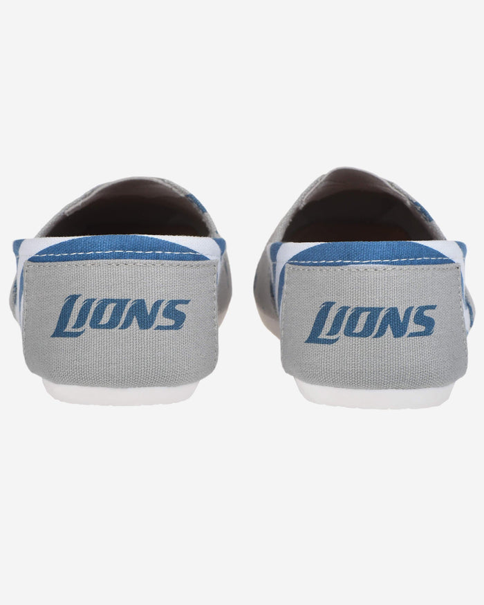 Detroit Lions Womens Stripe Canvas Shoe FOCO - FOCO.com