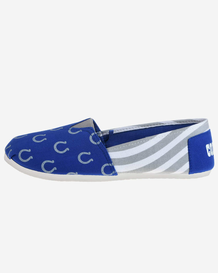 Indianapolis Colts Womens Stripe Canvas Shoe FOCO - FOCO.com