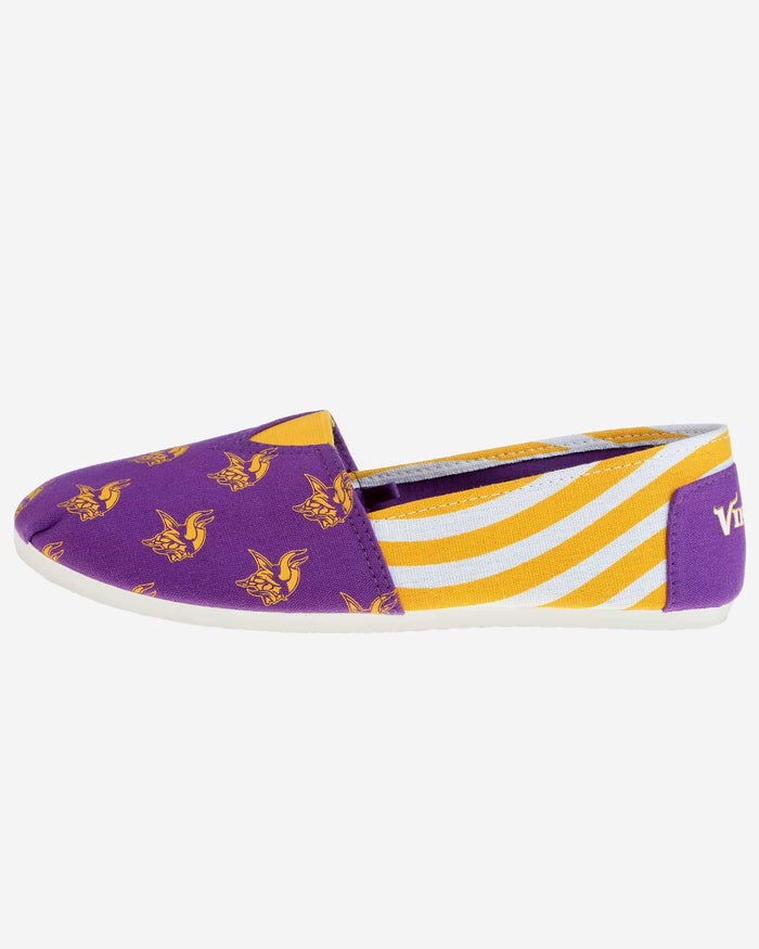 Minnesota Vikings Womens Stripe Canvas Shoe FOCO - FOCO.com