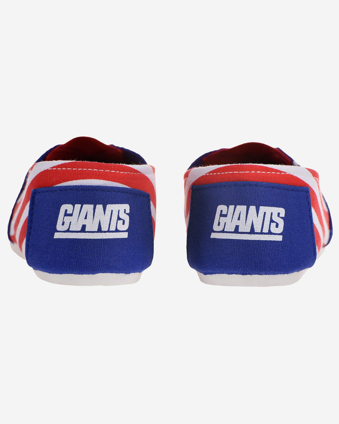 New York Giants Womens Stripe Canvas Shoe FOCO - FOCO.com
