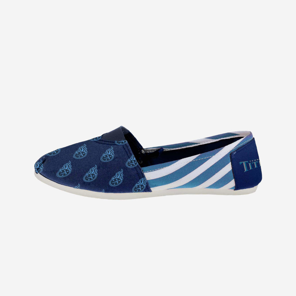 Tennessee Titans Womens Stripe Canvas Shoe FOCO - FOCO.com