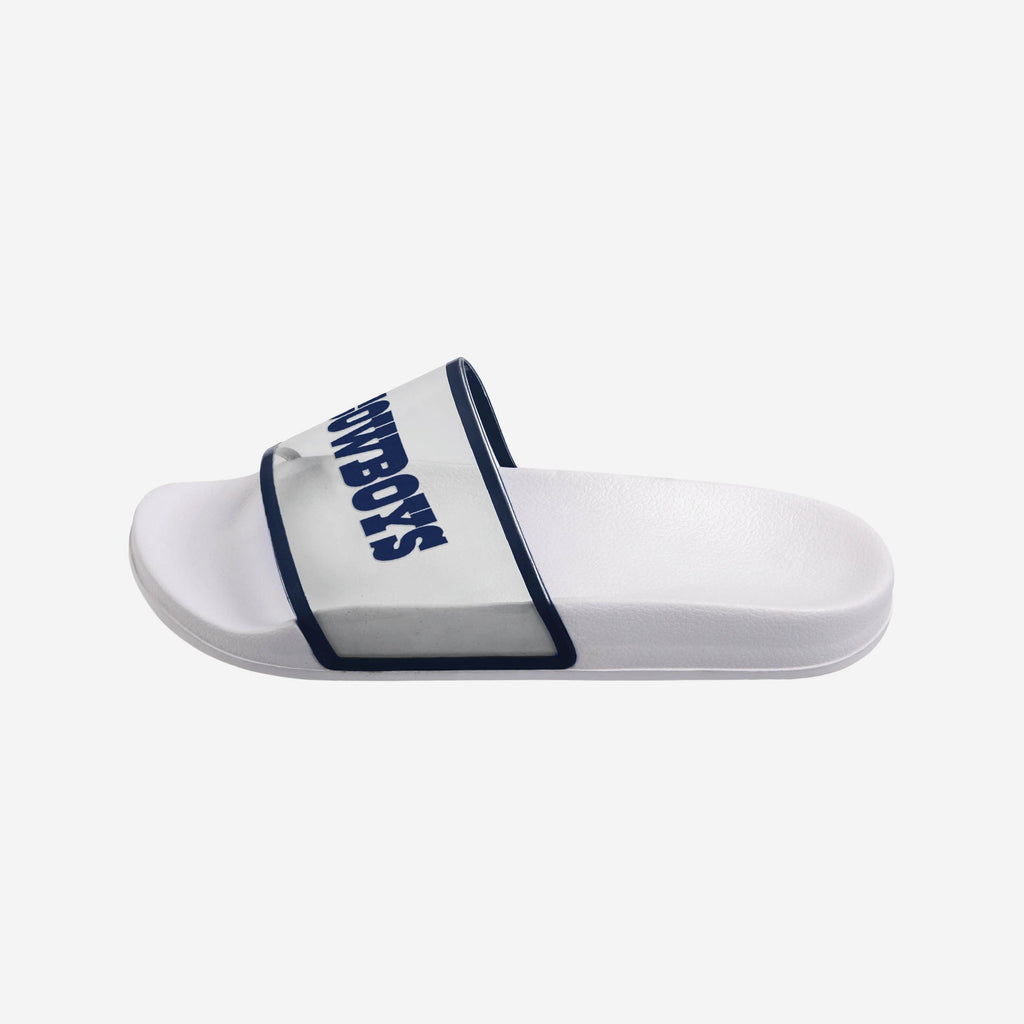 Dallas Cowboys Womens Clear Wordmark Slide Sandals FOCO - FOCO.com