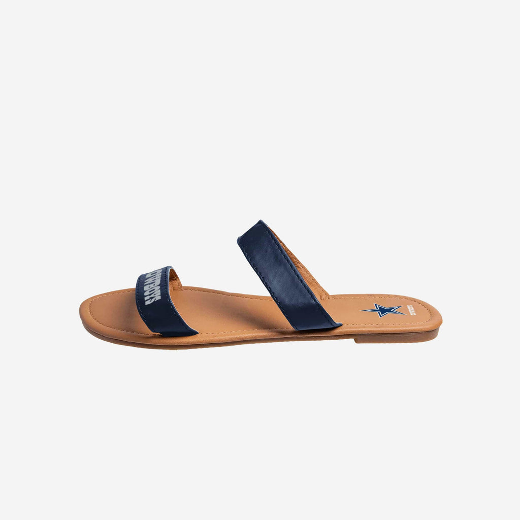 Dallas Cowboys Double Strap Slide Sandals FOCO - FOCO.com