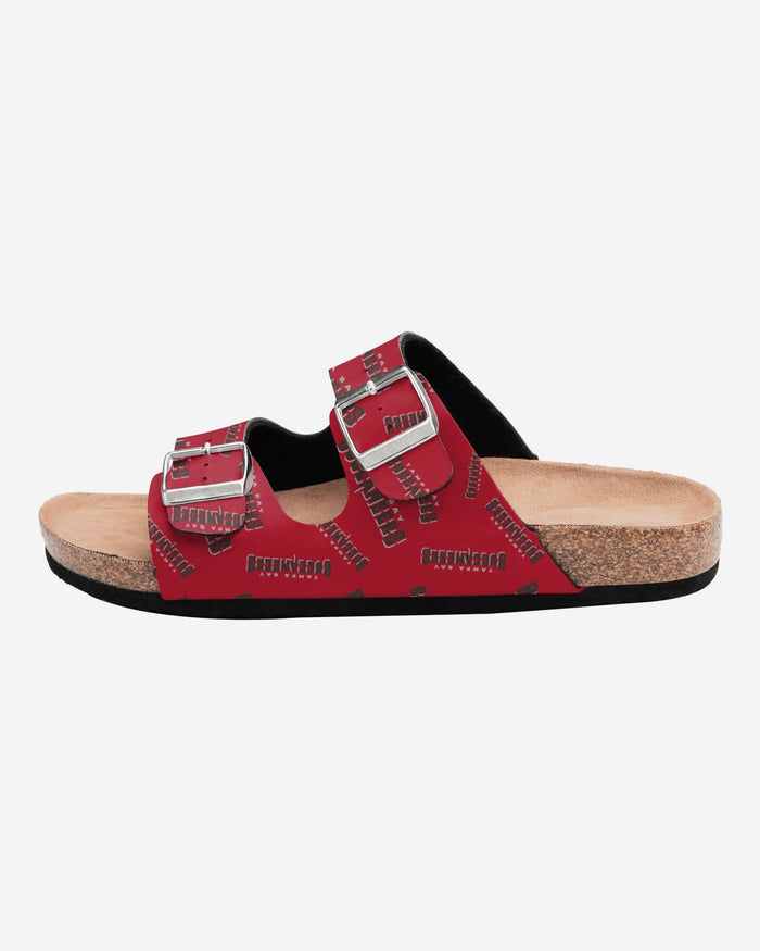 Tampa Bay Buccaneers Womens Mini Print Double Buckle Sandal FOCO - FOCO.com