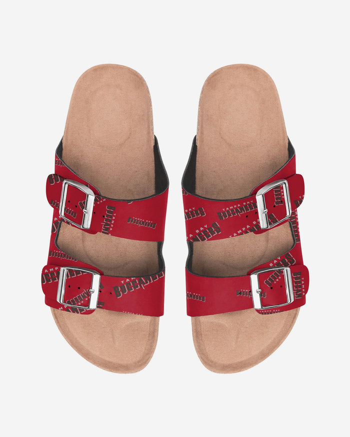 Tampa Bay Buccaneers Womens Mini Print Double Buckle Sandal FOCO S - FOCO.com