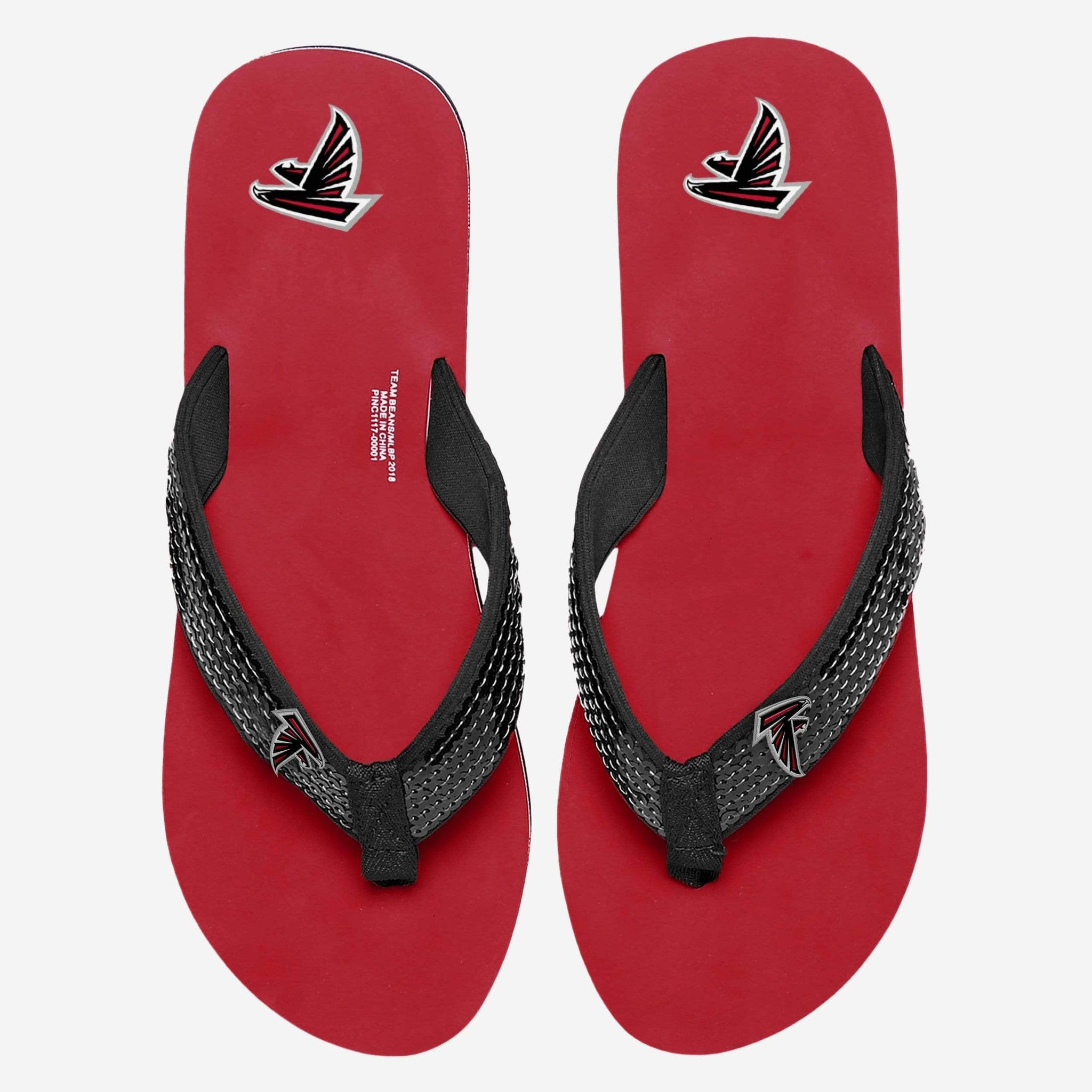Atlanta Falcons Womens Sequin Flip Flop FOCO - FOCO.com