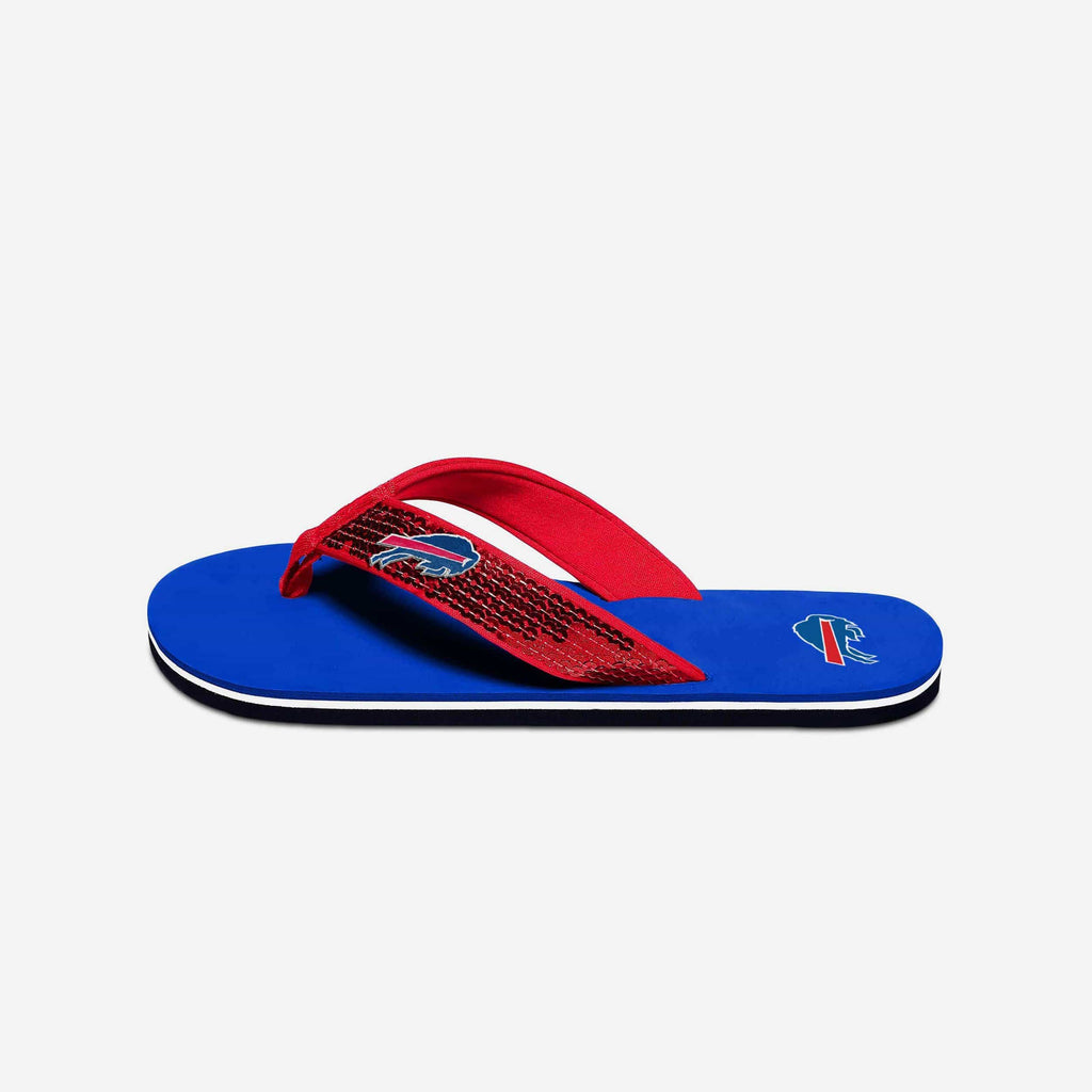 Buffalo Bills Womens Sequin Flip Flop FOCO - FOCO.com