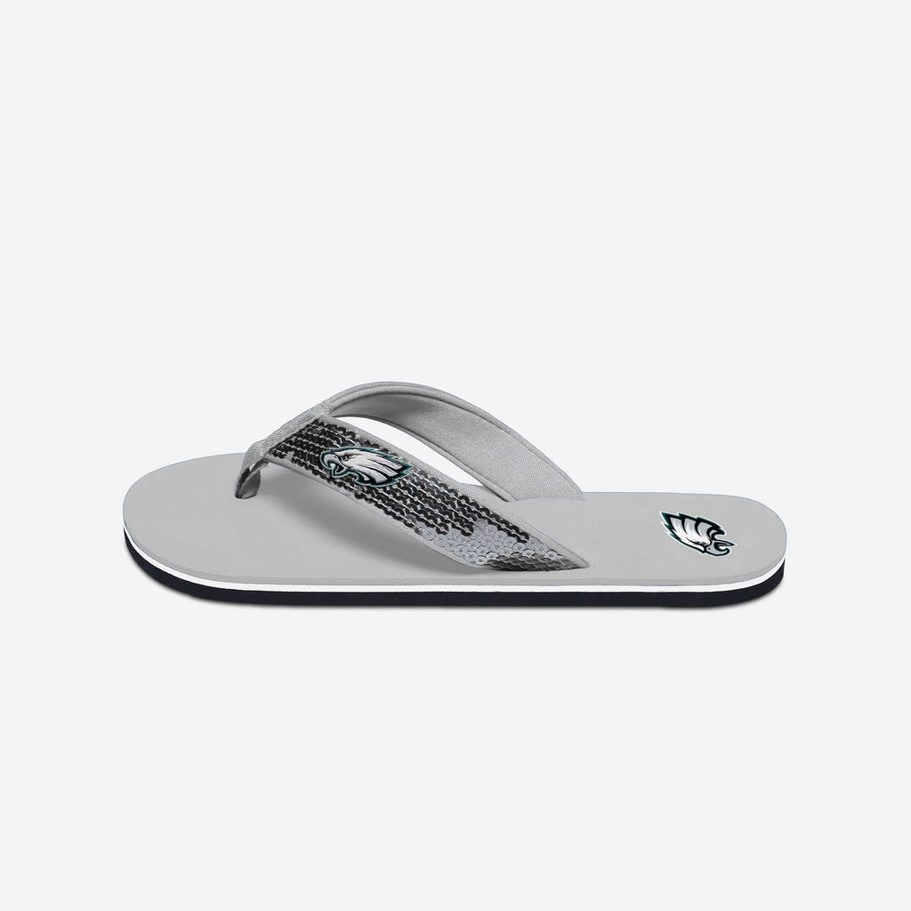 Philadelphia Eagles Womens Sequin Flip Flop FOCO - FOCO.com