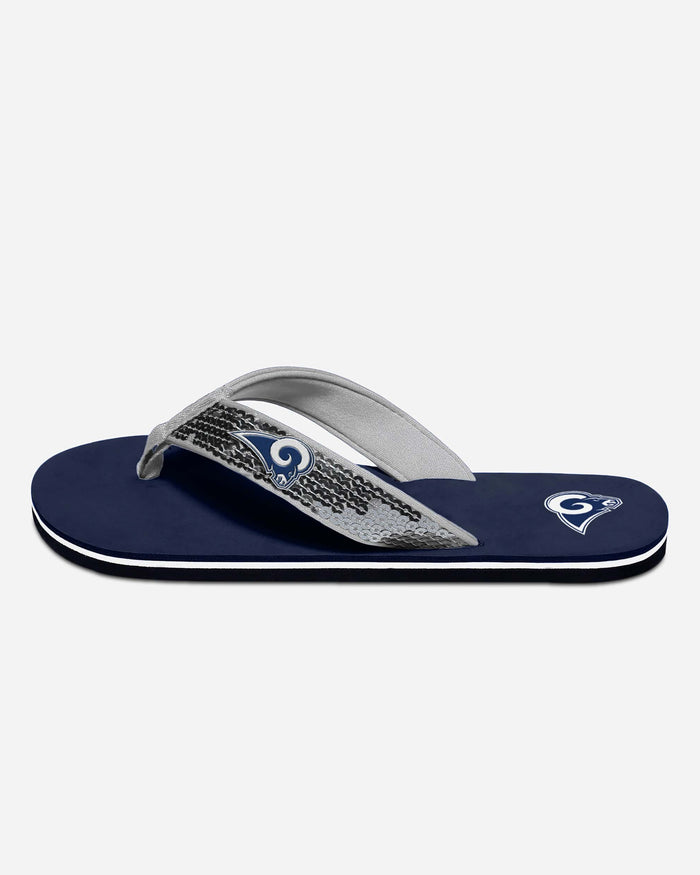Los Angeles Rams Womens Sequin Flip Flop FOCO - FOCO.com