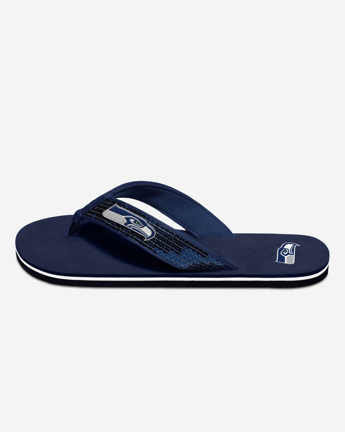 Seattle Seahawks Womens Sequin Flip Flop FOCO - FOCO.com
