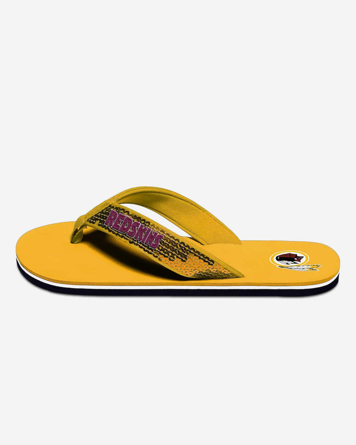Washington Redskins Womens Sequin Flip Flop FOCO - FOCO.com