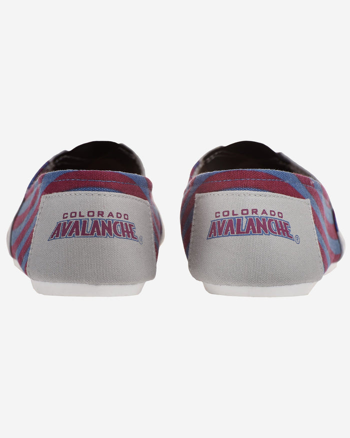 Colorado Avalanche Womens Stripe Canvas Shoe FOCO - FOCO.com
