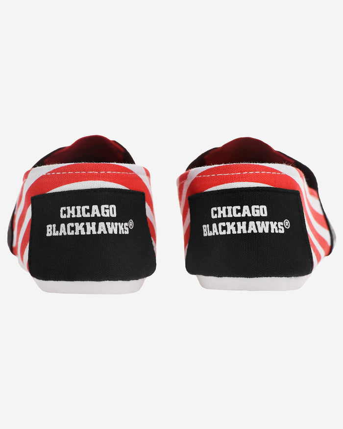 Chicago Blackhawks Womens Stripe Canvas Shoe FOCO - FOCO.com